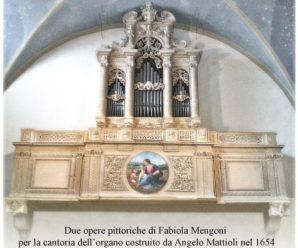 Due opere pittoriche di Fabiola Mengoni per la cantoria dell'organo costruito da Angelo Mattioli nel 1654